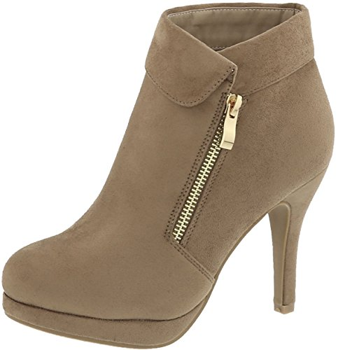 Top Moda George-40 Ankle Wrap Boots,10 B(M) US,Taupe
