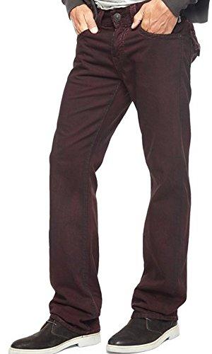 - True Religion Men's Ricky Super T Relaxed Straight Fit Jean in Aged Mohogany, Mahogany, 33X34