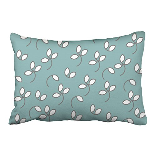 Musesh whimsical chic pillow 132 seafoam white gray floral Cushions Case Throw Pillow Cover For Sofa Home Decorative Pillowslip Gift Ideas Household Pillowcase Zippered Pillow Covers (Southern Textiles Square Pillow)