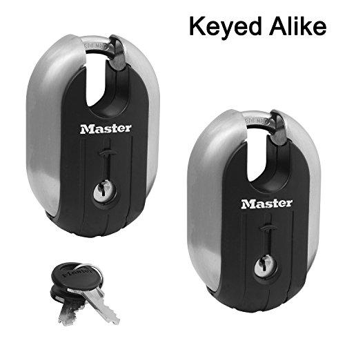 Master Lock - (2) Titanium Trailer Door/Multi Purpose Padlocks 2-7/16