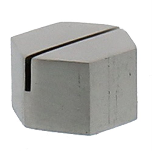 Silver Iron Place Card Holder Set |Nickel Metal Hexagon Simple (Silver Place Card Holders Pair)