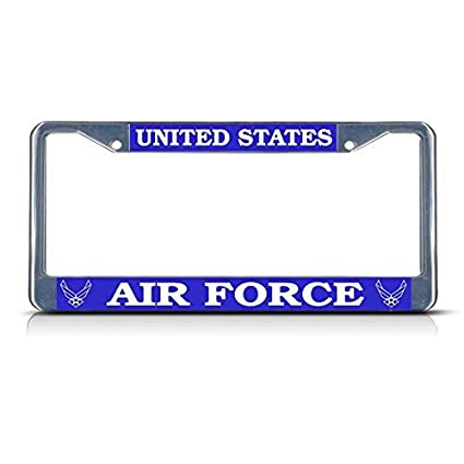 UNITED STATES AIR FORCE Metal Auto License Plate Frame Car Tag Holder