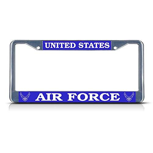 - Dwi24isty Metal Auto License Plate Frame Car Tag Holder United States Air Force Us Metal License Plate Frame Tag Border Two Holes Perfect for Men Women Car Garadge Decor