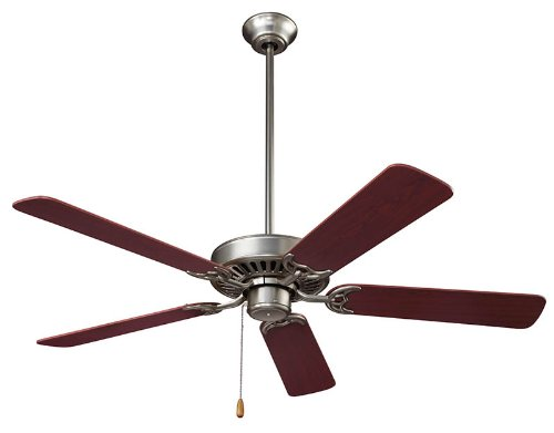 NuTone CFS52BS Energy Star Qualified Dual Blades Ceiling Fan, 52-Inch, Brushed Steel by Broan