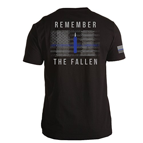 Law Enforcement Memorial - WolfHunter Remember the Fallen Officer 2016 Memorial T-Shirt for Law Enforcement/LEO Support