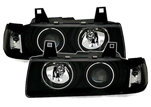 CCFL Angel Eyes Scheinwerfer Set in Klarglas Schwarz