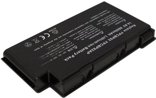 PowerSmart 12 CELL 6600MAh 98Wh Replacement for FUJITSU LifeBook N6010, LifeBook N6200, LifeBook N6210, LifeBook N6220 Laptop Battery, Compatible Part Numbers: FPCBP105, FPCBP105AP, FPCBP92, FPCBP92AP