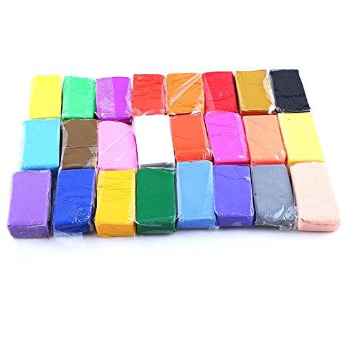Soft Malleable Fimo Polymer Clay Blocks Plasticine(24pcs) - 8