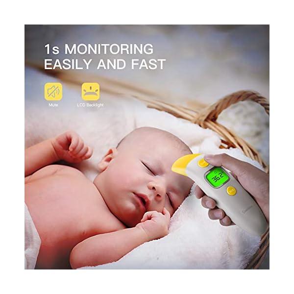 CocoBear Termómetro Digital Bebé, Termómetro Infrarrojos, Frente y Oído, Bebé y Adultos 4 en 1 Termómetro Infrarrojo en… 6