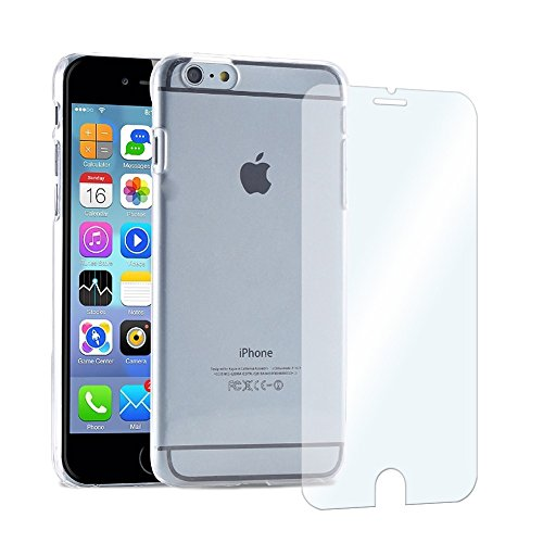 Ultra Slim Cover Hülle Smartphone + Echt Glas Panzerglas Glasfolie Case Tasche , Smartphone:Apple iPhone 5 / 5S / SE