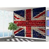 Union Jack Graffiti Brick Wallpaper Wall Mural Wall Art Great Britian   2XL Part 79
