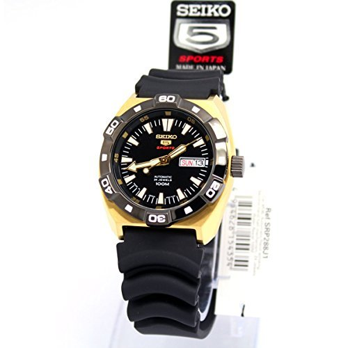 SEIKO 5 SPORTS self-winding watch black mens SRP288J1