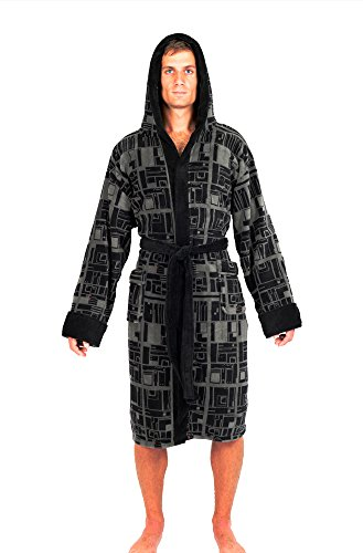 Star Wars Death Star repeat Pattern Fleece Bathrobe & Swim Suit Cover Up