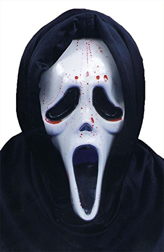 Scream Mask with Blood and Pump