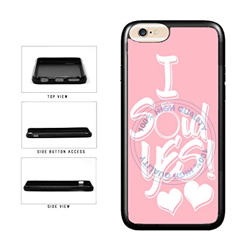 BleuReign(TM) I Said Yes Pink Engagement Design TPU RUBBER SILICONE Phone Case Back Cover For Apple iPhone 8 Plus and iPhone 7 Plus