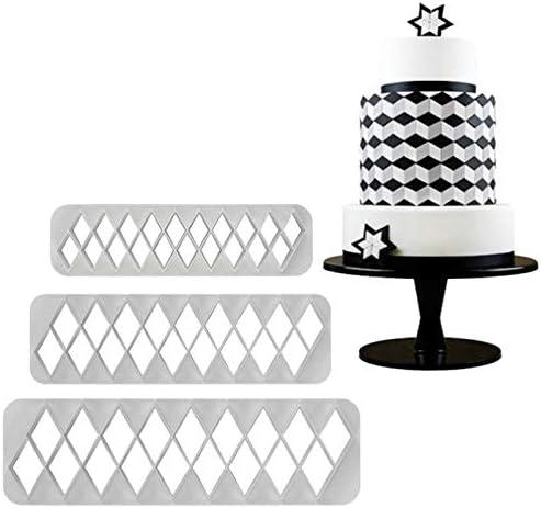 Cake Decorating Fondant Cutter Clay Cutter Multi- 38 Diamond Cutter