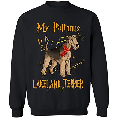 My Patronus is a Lakeland Terrier Crewneck Sweatshirt (Black - S)]()
