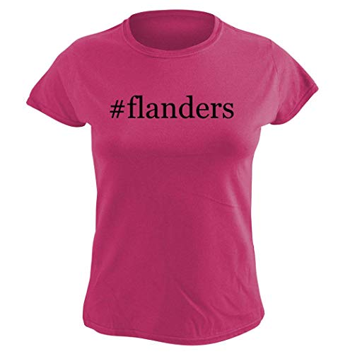Harding Industries #Flanders - Women's Hashtag Graphic T-Shirt, Pink, XX-Large (Flanders Industries)
