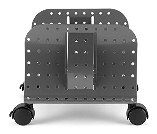 Allsop. Metal Art CPU Caddy, Adjustable Width Mobile Computer Stand with 4 Caster Wheels - Pewter (27761) (Limited Edition) by Allsop (Image #2)