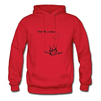 Women Your Fly Is Down Painting Sweatshirts Red Custom Shirts With X-large