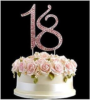 Brilliant Jevenis Gold Glitter Happy 18Th Birthday Cake Topper Hello 18 Cake Personalised Birthday Cards Petedlily Jamesorg