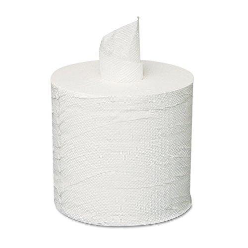 General Supply 203 Centerpull Towels, 2-Ply, White, 6 Rolls/Carton