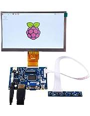 """GeeekPi 7"""" 1024 x 600 HDMI-skärm LCD-skärm med drivrutinskortsmonitor för Raspberry Pi"""