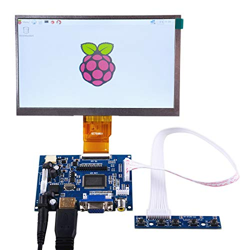 GeeekPi 7 inch 1024 x 600 HDMI Screen LCD Display with Driver Board Monitor for Raspberry Pi - Flat Panel Monitors Rgb