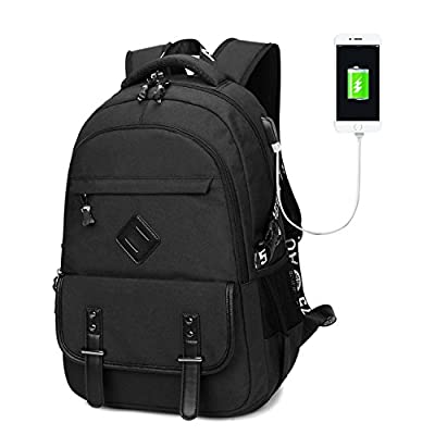 Gazigo 15.6 Inch Slim Laptop Backpack with USB Charging Port for Travel School Office
