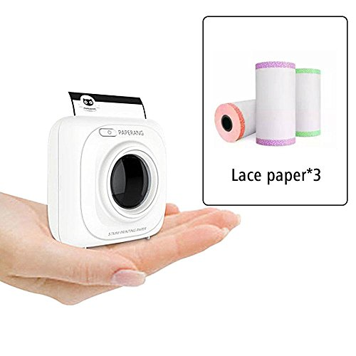 Thermal Printer Paper Roll 57x30mm with Lace Side for PAPERANG Instant Printer Pack of 3 Pieces