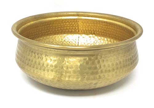 Serene Spaces Living Decorative Brass Bowl, 7in D X 2 1/2in H, Each