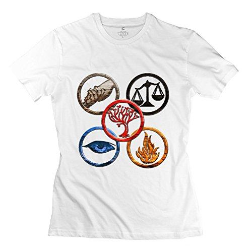 TGRJ Women's T-shirts - Geek Divergent 2 Insurgent Logo White Size M