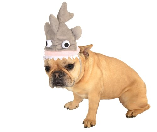 Shark Pet Costumes (Rubie's Pet Costume Shark Hat, Small to)