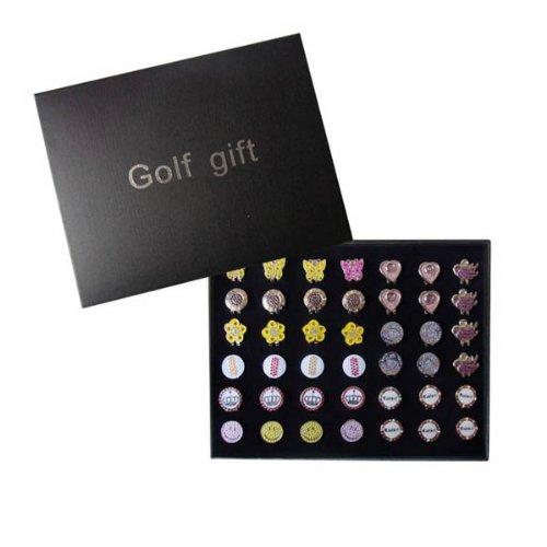 Wotefusi New Brand Golf Ball Marker Women's Master Various Gift Box 42pcs Hat/Cap Clips