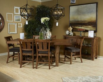 Signature Design by Ashley Tamilo Casual Dining Room Set with Dining Table and Bar Stool
