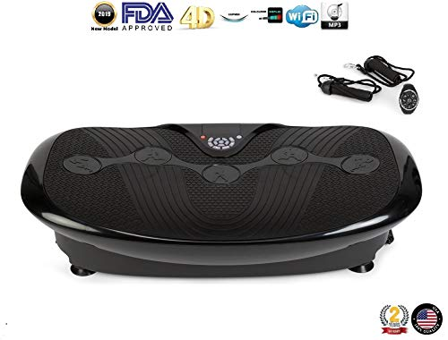 GLOBAL RELAX Zen Shaper Plus Vibration Plate – Black 2019 New Model – Fitness oscillating Vibration Platform MP3 Music 3 Exercise Areas Walk-Jogging-Running – 2 Years Official Warranty US