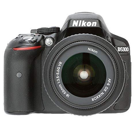 Renewed  Nikon D5300 24.2MP Digital SLR Camera  Black  Cameras   Photography
