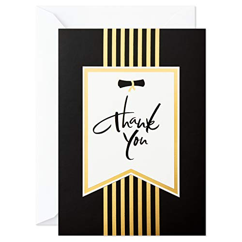 - Hallmark Graduation Thank You Cards, Black and Gold (20 Thank You Notes with Envelopes)