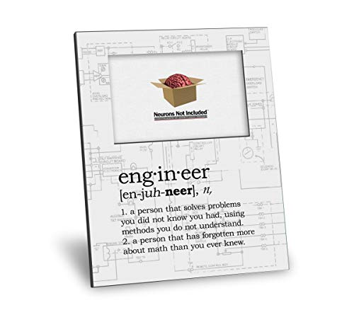 Engineer Definition Picture Frame - Personalization Available - 8x10 Frame - 4x6 Picture - Gloss White Finish
