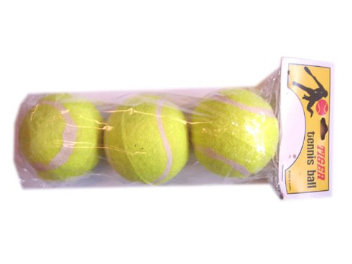 3 Tennisbälle / Farbe: gelb
