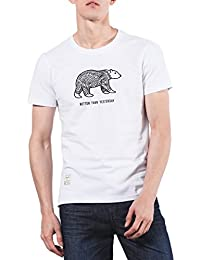 "<span class=""a-offscreen"">[Sponsored]</span>Men's Bear Graphic Smooth Surface T-Shirt"