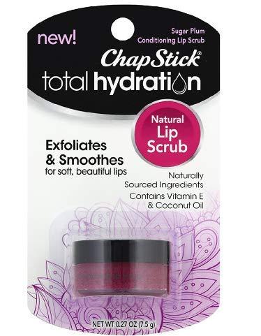 ChapStick Total Hydration Sugar Plum Natural Conditioning Lip Scrub, Exfoliator Sugar Plum 0.27 oz (pack of 2) by .ChapStick.