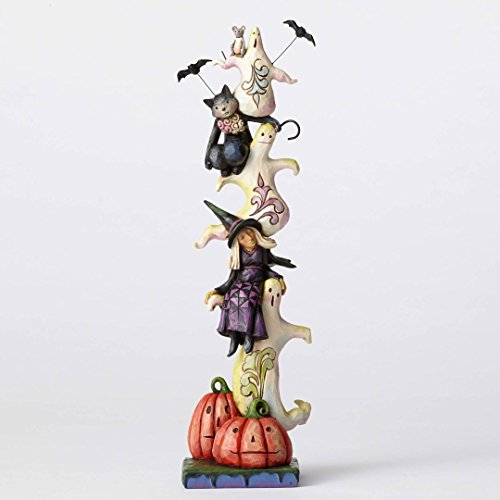 Jim Shore Heartwood Creek, Stacked Ghosts w/Witch and (Primitive Halloween Witch)