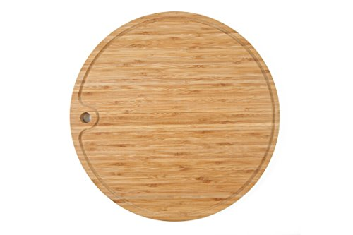 Round Bamboo Cutting Board for Chopping and Carving.(15