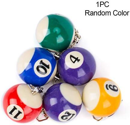 Llavero con forma de billar, mini colores surtidos, bolas pequeñas ...