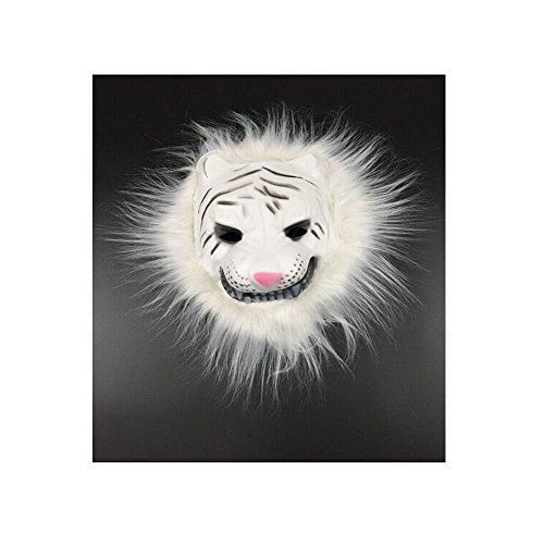 Mask Deluxe Tiger (Deluxe Halloween Costume Party Animal Tiger Face Hair)