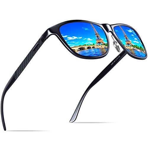KITHDIA Mens Driving Polarized Wayfarer Sunglasses Al-Mg Metal Frame Ultra Light #407 by KITHDIA