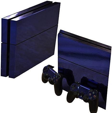 Gaminger Playstation 4 - Kit de Skins (Fundas Adhesivas) para Consola + 2 mandos de Control – Glossy Dark Blue: Amazon.es: Electrónica