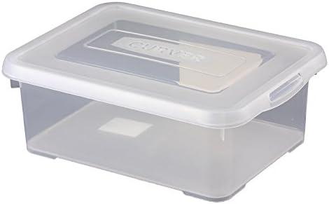 Curver Caja con tapa 12L transparente multiusos caja caja caja ...