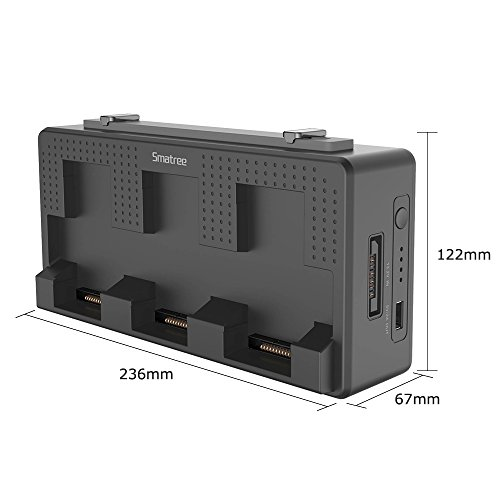 Smatree Portable Charging Station Compatiable for DJI Mavic Air Battery, 158Wh Rechargeable Power Bank Batteries Charger(Charge 3 Mavic Air Batteries Simultaneous and up to 5-8 Mavic Air Batteries by Smatree (Image #4)